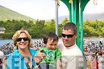 Adrienne & Dan Dennehy with their nephew Ruairi Dennehy enjoying the triathlon in Cahersiveen on Saturday.