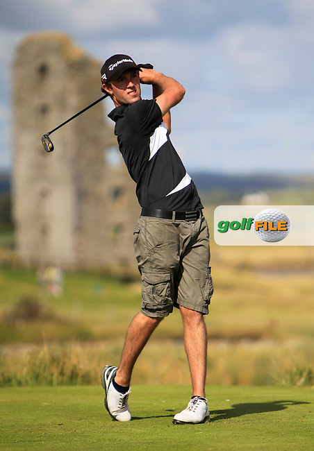 Nicky Grant (Knock) on the 13th tee during the South of Ireland Amateur Open Championship 4th Round at Lahinch Golf Club  29th July 2013 <br />