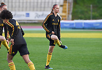 20190304 - LARNACA , CYPRUS :  Belgian Julie Biesmans pictured during a women's soccer game between Nigeria and the Belgian Red Flames , on Monday 4 th March 2019 at the GSZ Stadium in Larnaca , Cyprus . This is the third and last game in group C for both teams during the Cyprus Womens Cup 2019 , a prestigious women soccer tournament as a preparation on the Uefa Women's Euro 2021 qualification duels. PHOTO SPORTPIX.BE | DAVID CATRY