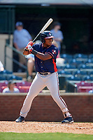 Rome Braves right fielder Justin Smith (40) at bat during a game against the Lexington Legends on May 23, 2018 at Whitaker Bank Ballpark in Lexington, Kentucky.  Rome defeated Lexington 4-1.  (Mike Janes/Four Seam Images)