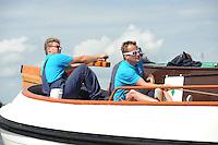 SKÛTSJESILEN: FRYSLÂN: SKS kampioenschap 2015, Skûtsje Akkrum schipper Pieter Ezn. Meeter, ©foto Martin de Jong