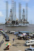 NIGERIA, City Lagos, two oil platform laying in Lagos port, Oritsetimeyin and Onome