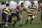 S Kata breaks through the Patumahoe defense. Counties Manukau Premier Club Rugby, Waiuku vs Patumahoe played at Rugby Park, Waiuku on the 8th of April 2006. Waiuku won 18 - 15