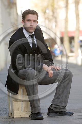 BERLIN - GERMANY 27 MAR 2008 -- Tomas SPENCER, actor and model, poses during a photo shooting in Berlin. -- PHOTO: © GORM K. GAARE/ EUP-BERLIN..
