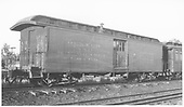 Baggage car #126 built by D&amp;RG as #27 in 1883.  Renumbered in September 1886.<br /> D&amp;RGW  Gunnison, CO  Taken by Darrell, Paul - 7/17/1939
