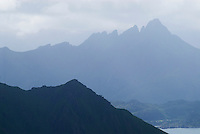 mountain peaks of Lofoten Islands, Norway