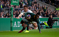South Africa's Sibusiso Nkosi scores his sides first try<br /> <br /> Photographer Bob Bradford/CameraSport<br /> <br /> Quilter Internationals - England v South Africa - Saturday 3rd November 2018 - Twickenham Stadium - London<br /> <br /> World Copyright © 2018 CameraSport. All rights reserved. 43 Linden Ave. Countesthorpe. Leicester. England. LE8 5PG - Tel: +44 (0) 116 277 4147 - admin@camerasport.com - www.camerasport.com