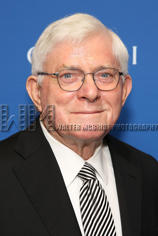 """Phil Donahue attends the Opening Night Performance of """"Gloria: A Life"""" on October 18, 2018 at the Daryl Roth Theatre in New York City."""
