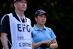 Gabbie Desombre of Hong Kong during the first round of the EFG Hong Kong Ladies Open at the Hong Kong Golf Club Old Course on May 11, 2018 in Hong Kong. Photo by Marcio Rodrigo Machado / Power Sport Images