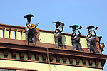 METAL MARIACHIS ON ROOF IN GUADALAJARA PLAZA DE MARIACHIS