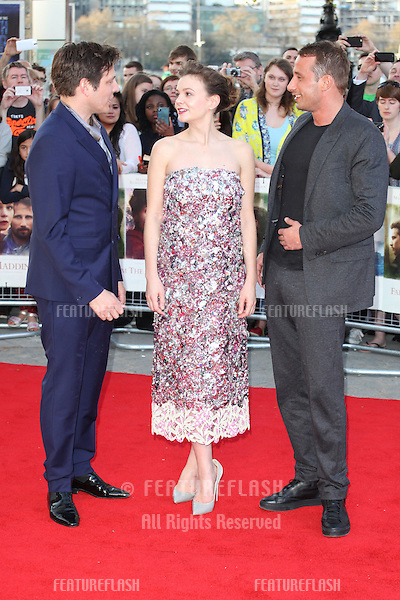 Thomas Vinterberg, Carey Mulligan and Matthias Schoenaerts attends the World Premiere of 'Far From The Madding Crowd' at BFI Southbank, London. 15/04/2015 Picture by: Alexandra Glen / Featureflash