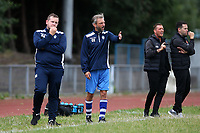 Ilford manager Clint Easton during Ilford vs Harwich & Parkeston, Emirates FA Cup Football at Cricklefields Stadium on 10th August 2019