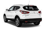 Car pictures of rear three quarter view of 2014 Nissan Qashqai Tekna 5 Door SUV angular rear