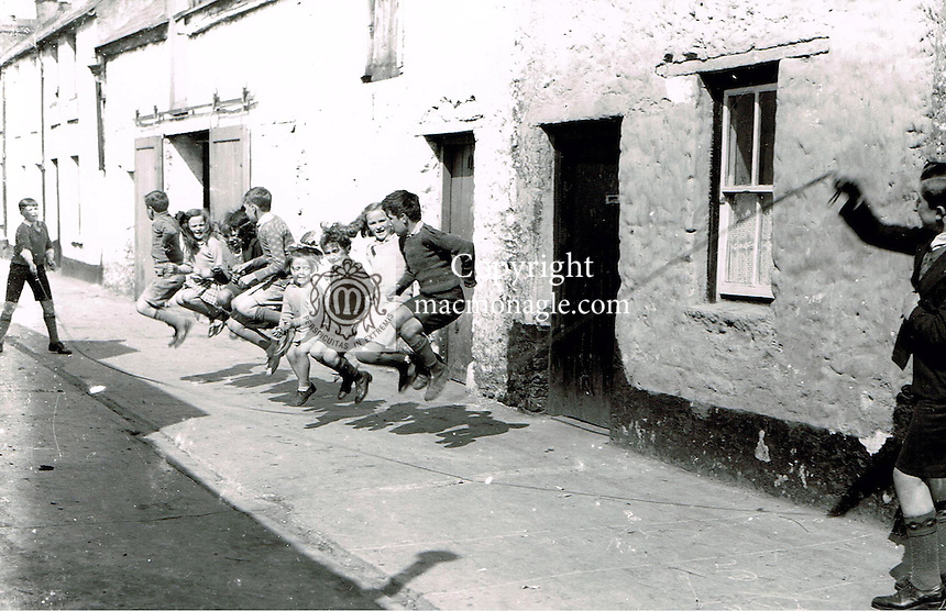 Local children play skipping in Killarney in the 1930's.. Photo: macmonagle.com archive