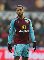 Burnley's Aaron Lennon<br /> <br /> Photographer Ashley Crowden/CameraSport<br /> <br /> The Premier League - Swansea City v Burnley - Saturday 10th February 2018 - Liberty Stadium - Swansea<br /> <br /> World Copyright &copy; 2018 CameraSport. All rights reserved. 43 Linden Ave. Countesthorpe. Leicester. England. LE8 5PG - Tel: +44 (0) 116 277 4147 - admin@camerasport.com - www.camerasport.com