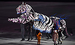A robotic tiger. Opening Ceremony. Pyeongchang2018 winter Olympics. Olympic stadium. Pyeongchang. Republic of Korea. 09/02/2018. ~ MANDATORY CREDIT Garry Bowden/SIPPA - NO UNAUTHORISED USE - +44 7837 394578