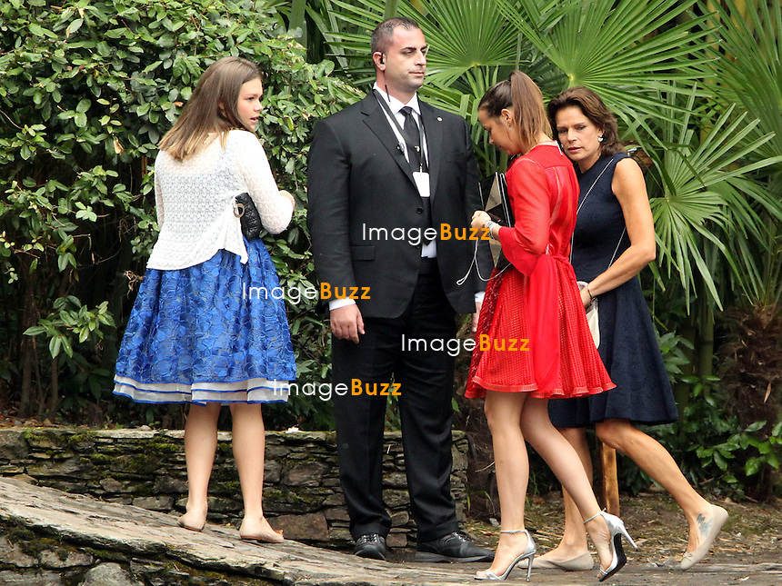 Arrival of the guests of the marriage of Pierre and B&eacute;atrice<br /> <br /> Camille Marie Kelly Gottlieb;Pauline Ducruet;Stephanie de Monaco