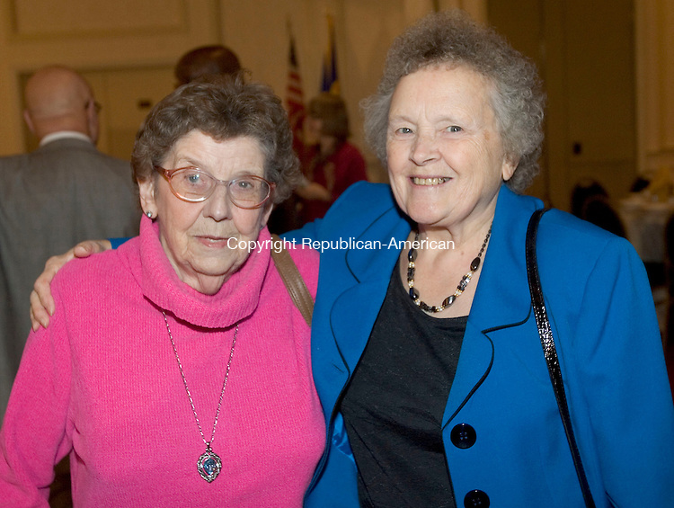 WATERBURY, CT. 02 November 2012-110212SV16-The Waterbury Neighborhood Council awards dinner held at CoCo Key Resort in Waterbury Friday. Attending the event, from left, Pat Johnson of Oakville and Elsie Ferraro of Waterbury..Steven Valenti Republican-American