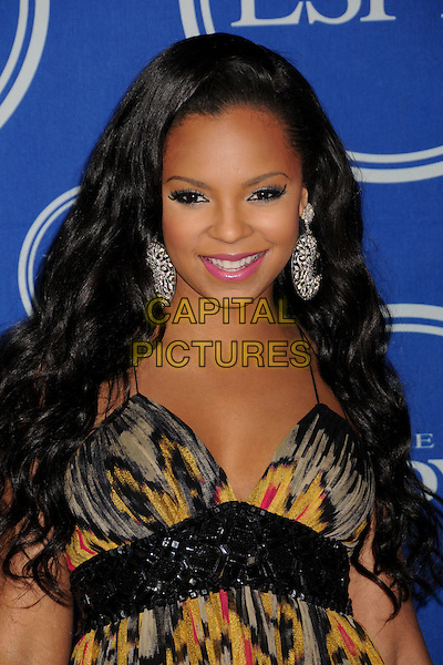 ASHANTI.ESPY Awards 2008 - Press Room at the Nokia Theatre LA Live, Los Angeles, California, USA..July 16th, 2008.half length black grey gray red pink yellow pattern print silver earrings.CAP/ADM/BP.©Byron Purvis/AdMedia/Capital Pictures.
