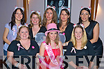Carol Donnelly, Cork, pictured with Karen McDonnell, Mairead Barry, Grainne O'Sullivan, Deirdre Hickey, Jill Harrington, Caroline Harrington and Aileen Mooney during her hen night in The Granary, Killarney on Saturday night.