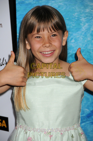 BINDI IRWIN.G'Day USA: Australia.com 2008 Black Tie Gala at the Hollywood & Highland Ballroom, CaliforniaUSA,.19 January 2008..portrait headshot thumbs up Steve Irwin's daughter.CAP/ADM/BP.©Byron Purvis/AdMedia/Capital Pictures.