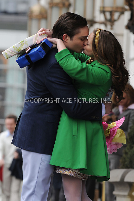 WWW.ACEPIXS.COM . . . . . ....March 16 2009, New York City....Actors Ed Westwick and Leighton Meester on the set of of the TV show 'Gossip Girl' outside the Plaza Hotel in midtown Manhattan on March 16 2009 in New York City....Please byline: KRISTIN CALLAHAN - ACEPIXS.COM.. . . . . . ..Ace Pictures, Inc:  ..tel: (212) 243 8787 or (646) 769 0430..e-mail: info@acepixs.com..web: http://www.acepixs.com
