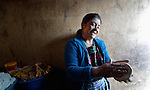 Arcadia Ventura makes tortillas in her home in San Jose la Frontera, a small Mam-speaking Maya village in Comitancillo, Guatemala.