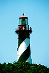 Florida: St. Augustine,historic lighthouse.  Photo: flaugu104.Photo copyright Lee Foster, 510/549-2202, lee@fostertravel.com, www.fostertravel.com