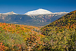 Autumn view of Mount Washington from Crawford Notch State Park, NH