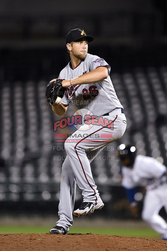 Salt River Rafters pitcher Jason Adam (26) during an Arizona Fall League game against the Mesa Solar Sox on October 18, 2014 at Cubs Park in Mesa, Arizona.  Mesa defeated Salt River 8-4.  (Mike Janes/Four Seam Images)