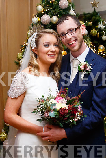 Geraldine Whyte, daughter of Ann and the late Paddy, Rathea, Listowel and Kieran O'carroll, son of John & Peggy, Clontubrid, Listowel who married last Friday, Dec 1st at the Church of the Assumption, Rathea with Fr Maurice Brick officiating. The bestman was Eoin O'Carroll, groomsmen were Damian o'Carroll. 1st bridesmaid was Ruth Sheehy with Mairead Slemon. Flower girls were Orla Dowling, Ella Walsh and Emma Slemon. The reception was in the Ballygarry house hotel, Tralee and the couple will reside in Listowel.