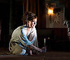 Medea<br /> by Euripides<br /> in a new version by Ben Power<br /> at The Olivier Theatre, NT, Southbank, London, Great Britain <br /> designed by Tom Scutt<br /> Directed by Carrie Cracknell<br /> Press photocall<br /> 7th July 2014 <br /> <br /> Helen McCrory as Medea<br />  <br /> <br /> <br /> <br /> <br /> Photograph by Elliott Franks