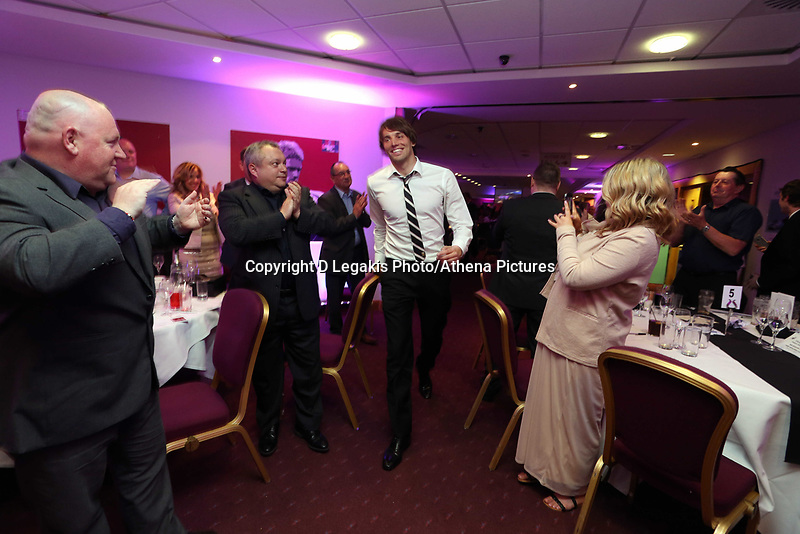 Thursday 16 May 2013<br /> Pictured: Michu<br /> Re: Swansea City FC footballer of the year awards dinner at the Liberty Stadium.