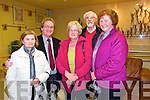Mary Yawlop, Mary Casey, Christina Nealon, John Stack (PRO Kerry County Board), John Canty from Causeway and Listowel at tthe Macalla na hEireann 2014 Colmhatas Tour of Ireland in the Tintean Theatre, Ballybunion on Thursday