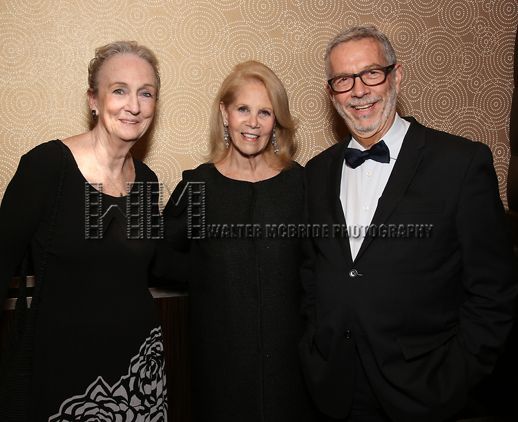 Kathleen Chalfant, Daryl Roth and Sam Rudy attends the Vineyard Theatre Gala 2018 honoring Michael Mayer at the Edison Ballroom on May 14, 2018 in New York City.