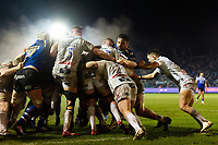 Elliott Stooke of Bath Rugby in action at a maul. Premiership Rugby Cup match, between Bath Rugby and Gloucester Rugby on February 3, 2019 at the Recreation Ground in Bath, England. Photo by: Patrick Khachfe / Onside Images