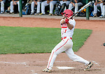 MIDDLETOWN, CT. 06 June 2018-060618BS576 - Wolcott's Nicolas Longo (1) hits for a double during the CIAC Tournament Class M Semi-Final baseball game between Ledyard and Wolcott at Palmer Field on Wednesday afternoon. Wolcott beat Ledyard 9-4 and advances to the Class M final this weekend. Bill Shettle Republican-American