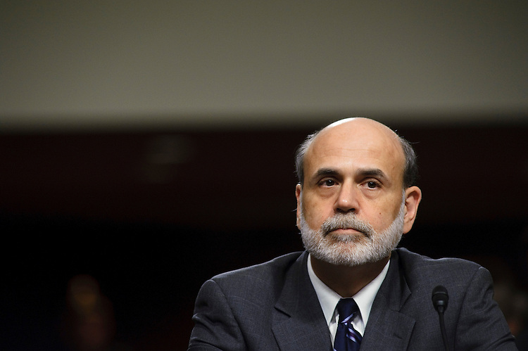 WASHINGTON, DC - July 21: Federal Reserve Chairman Ben S. Bernanke during the Senate Banking hearing to receive the semiannual monetary policy report of the Federal Reserve Board. (Photo by Scott J. Ferrell/Congressional Quarterly)