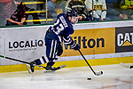 9 February 2019: University of New Hampshire Wildcat Forward Charlie Kelleher, a Sophomore from Longmeadow, MA, in third period action against the University of Vermont Catamounts at Gutterson Fieldhouse in Burlington, Vermont. The Wildcats fell to the Catamounts 4-1 splitting their 2-game Hockey East weekend series. Mandatory Credit: Ed Wolfstein Photo *** RAW (NEF) Image File Available ***