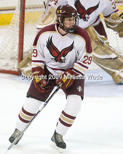 Chris Cobb (BC - 29) - The Boston College Eagles defeated the Endicott College Gulls 6-1 in a Northeast Collegiate Hockey Association (ACHA) matchup on Tuesday, November 3, 2009, at Conte Forum in Chestnut Hill, Massachusetts.