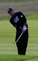 Patrick Reed (USA) on the 3rd during the Saturday Fourball Matches of the Ryder Cup at Gleneagles Golf Club on Saturday 27th September 2014.<br /> Picture:  Thos Caffrey / www.golffile.ie