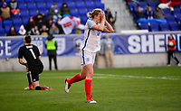 Harrison, N.J. - Sunday March 04, 2018: White scores and celebrates during a 2018 SheBelieves Cup match between the women's national teams of the Germany (GER) and England (ENG) at Red Bull Arena.
