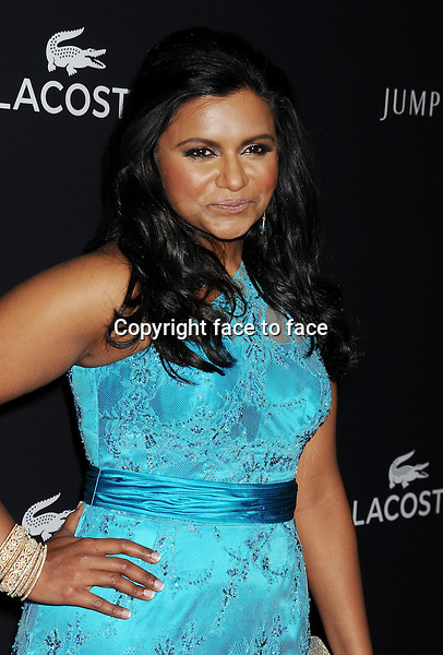 BEVERLY HILLS, CA- FEBRUARY 22: Actress Mindy Kaling arrives at the 16th Costume Designers Guild Awards at The Beverly Hilton Hotel on February 22, 2014 in Beverly Hills, California.<br />