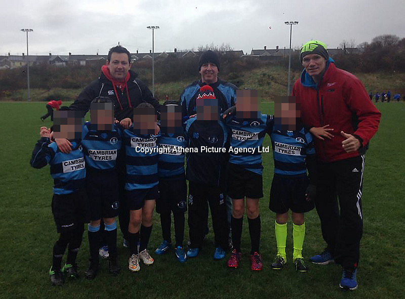 Pictured: Eifion Gwynne (R), image taken from his open facebook account.<br /> Re: Tributes have been paid to an Aberystwyth rugby player believed to have been killed in a crash in Malaga.<br /> The Foreign Office confirmed it was in contact with Spanish officials regarding the death of a man believed to be British.<br /> Father-of-three Eifion Gwynne, 41, was an electrician who had played rugby for Aberystwyth and Llandovery.<br /> Sources said he had flown to Estepona in the Costa del Sol to attend the funeral of a family friend.<br /> He was killed after being hit by a car, according to reports.
