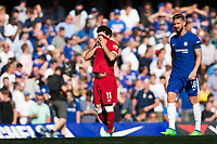 Liverpool's Mohamed Salah looks dejected after his side go 1-0 down <br /> <br /> Photographer Craig Mercer/CameraSport<br /> <br /> The Premier League - Chelsea v Liverpool - Sunday 6th May 2018 - Stamford Bridge - London<br /> <br /> World Copyright &copy; 2018 CameraSport. All rights reserved. 43 Linden Ave. Countesthorpe. Leicester. England. LE8 5PG - Tel: +44 (0) 116 277 4147 - admin@camerasport.com - www.camerasport.com