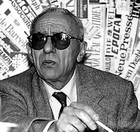 Roma 1995.Luigi Pintor, fondatore del quotidiano Il Manifesto.Rome 1995.Luigi Pintor, founder of the newspaper Il Manifesto