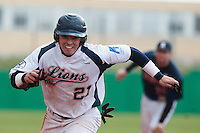 16 October 2010: Yann Dal Zotto of Savigny rushes back to first base during Rouen 16-4 win over Savigny, during game 1 of the French championship finals, in Savigny sur Orge, France.