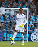 Goalkeeper Jamal Blackman of Wycombe during the Sky Bet League 2 match between Wycombe Wanderers and Accrington Stanley at Adams Park, High Wycombe, England on 16 August 2016. Photo by Andy Rowland.