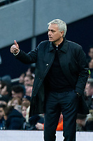 Tottenham Hotspur manager Jose Mourinhoapplauds his team from the dug-out <br /> <br /> Photographer Stephanie Meek/CameraSport<br /> <br /> The Premier League - Tottenham Hotspur v Bournemouth - Saturday 30th November 2019 - Tottenham Hotspur Stadium - London<br /> <br /> World Copyright © 2019 CameraSport. All rights reserved. 43 Linden Ave. Countesthorpe. Leicester. England. LE8 5PG - Tel: +44 (0) 116 277 4147 - admin@camerasport.com - www.camerasport.com