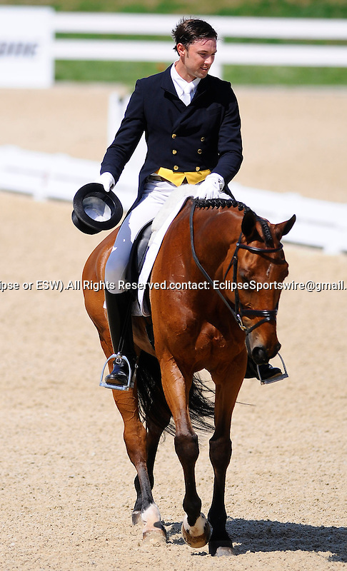 William Coleman(USA), competing on TWIZZEL, during the Dressage Test at the Rolex 3-Day 4-Star Event at the Kentucky Horse Park in Lexington, Kentucky on April 28, 2011.